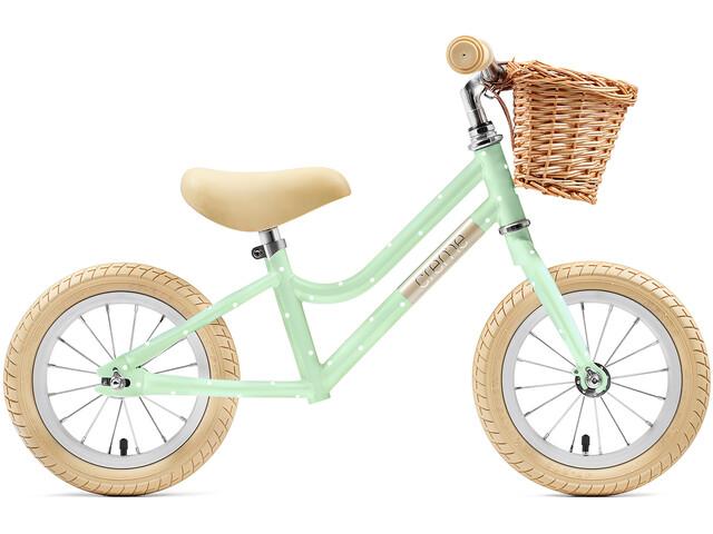 "Creme Mia Loopfiets 12"" Kinderen, pistachio polka"